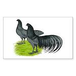 Blue Sumatra Chickens Sticker (Rectangle 50 pk)