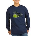 Blue Sumatra Chickens Long Sleeve Dark T-Shirt