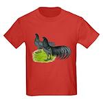 Blue Sumatra Chickens Kids Dark T-Shirt
