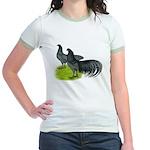 Blue Sumatra Chickens Jr. Ringer T-Shirt