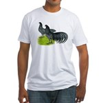 Blue Sumatra Chickens Fitted T-Shirt