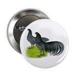 """Blue Sumatra Chickens 2.25"""" Button (10 pack)"""