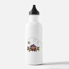 BEE & PURPLE FLOWER Water Bottle