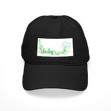 LUCKY graffiti shamrock Baseball Hat