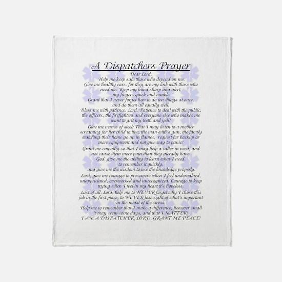 DISPATCHERS PRAYER Throw Blanket