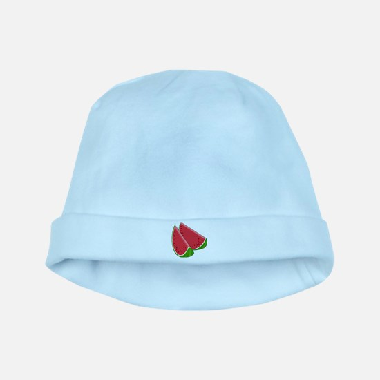 TWO WATERMELON SLICES baby hat