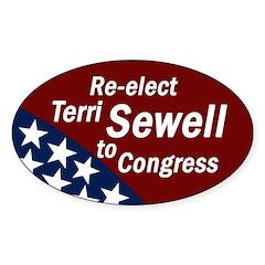 Re-elect Terri Sewell Bumper Decal
