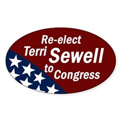 Re-elect Terri Sewell Bumper Decal