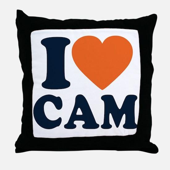 Cam Love Throw Pillow