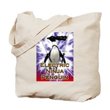 Electric Ninja Penguin Tote Bag