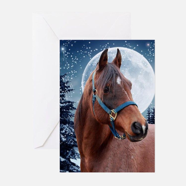 Winter Arabian #3 Xmas Cards (Pk of 10)