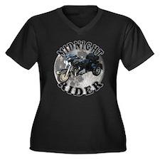 Midnight Rider Women's Plus Size V-Neck Dark T-Shi