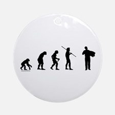 Accordion Evolution Ornament (Round)