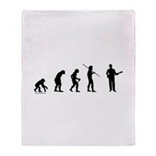 Banjo Evolution Throw Blanket