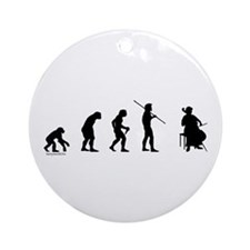 Cello Evolution Ornament (Round)