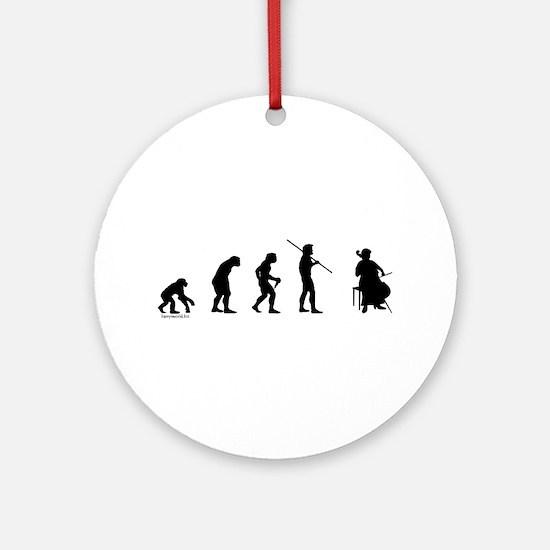 Cello Evolution Ornament (Round)