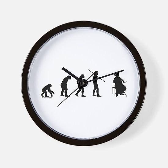 Cello Evolution Wall Clock