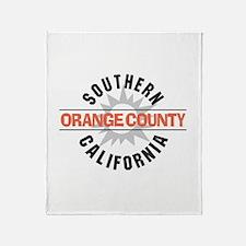 Orange County California Throw Blanket