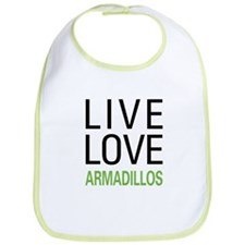 Live Love Armadillos Bib