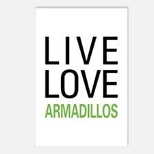 Live Love Armadillos Postcards (Package of 8)