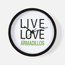 Live Love Armadillos Wall Clock