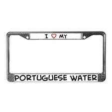I Love Portuguese Water License Plate Frame
