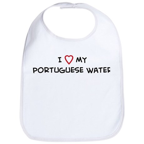 I Love Portuguese Water Bib