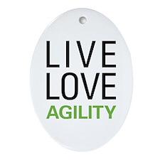 Live Love Agility Ornament (Oval)