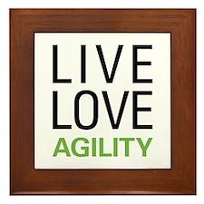 Live Love Agility Framed Tile