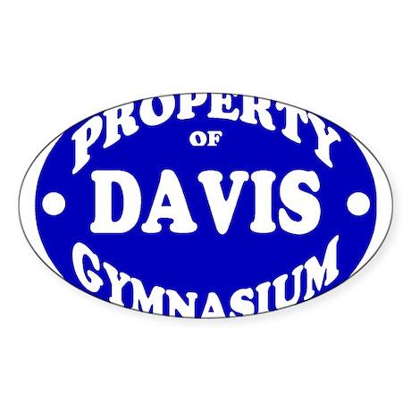Davis gym Sticker (Oval)