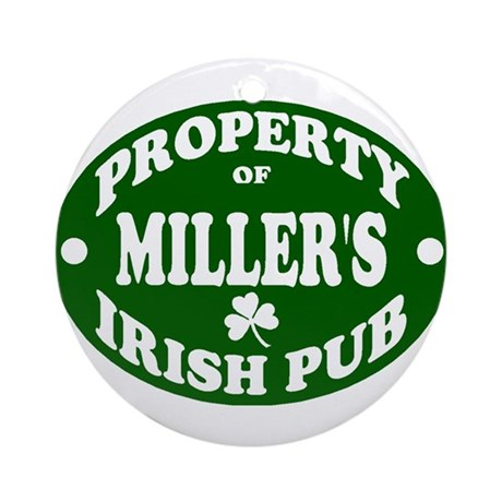 Miller's Irish Pub Ornament (Round)