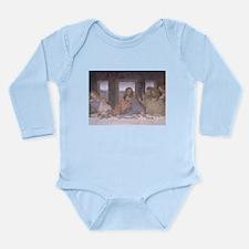 Cute Jesus and disciples Long Sleeve Infant Bodysuit