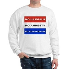 NO ILLEGALS NO AMNESTY NO COMPROMISE Jumper