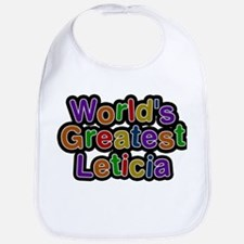 Worlds Greatest Leticia Baby Bib