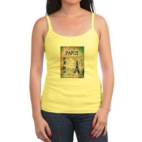 Shabby Chic Paris Jr. Spaghetti Tank
