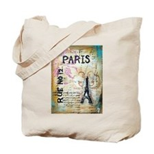 Shabby Chic Paris Tote Bag