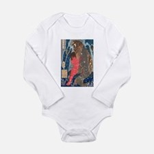 Funny Woodcut Long Sleeve Infant Bodysuit