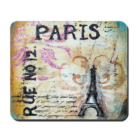 Shabby Chic Paris Mousepad