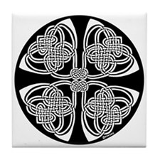 Duality Celtic Design Tile Coaster