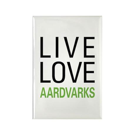 Live Love Aardvarks Rectangle Magnet (10 pack)