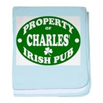 Charles' Irish Pub baby blanket
