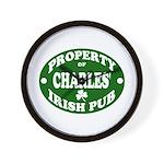 Charles' Irish Pub Wall Clock