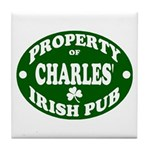 Charles' Irish Pub Tile Coaster