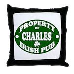 Charles' Irish Pub Throw Pillow