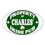 Charles' Irish Pub Sticker (Oval)