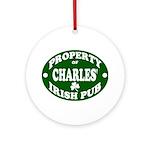 Charles' Irish Pub Ornament (Round)