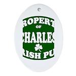 Charles' Irish Pub Ornament (Oval)