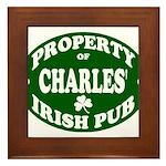 Charles' Irish Pub Framed Tile
