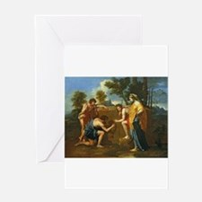 Arcadian Shepherds by Nicolas Poussin Greeting Car