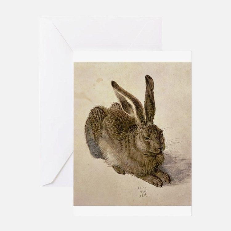 Hare by Albrecht Durer Greeting Cards